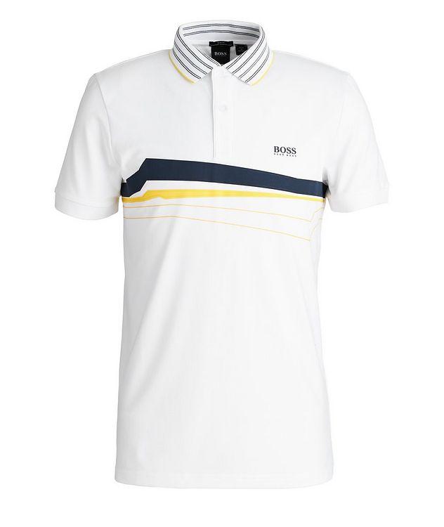 Slim-Fit Paule 8 Stretch-Cotton-Blend Polo picture 1