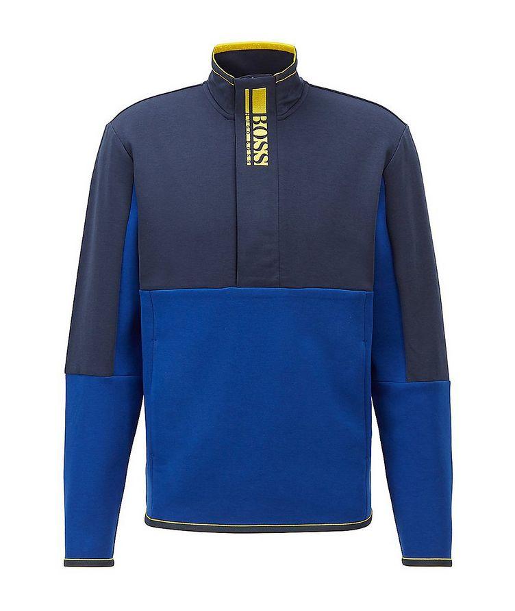 Sweat 1 Half-Zip Cotton-Blend Sweatshirt image 0