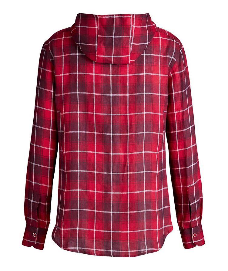 Mariano Plaid Linen Hooded Shirt image 1