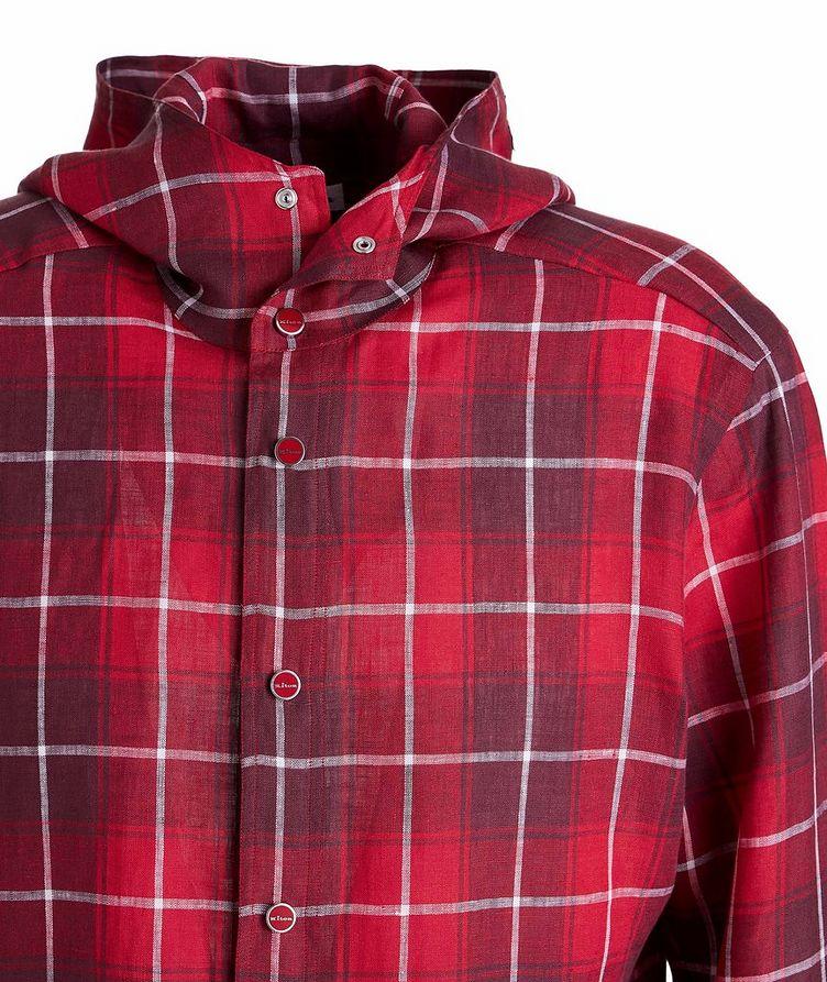 Mariano Plaid Linen Hooded Shirt image 2