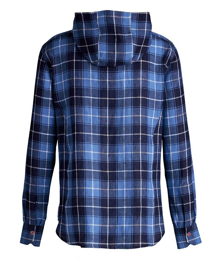Mariano Plaid Linen Hooded Shirt image 1