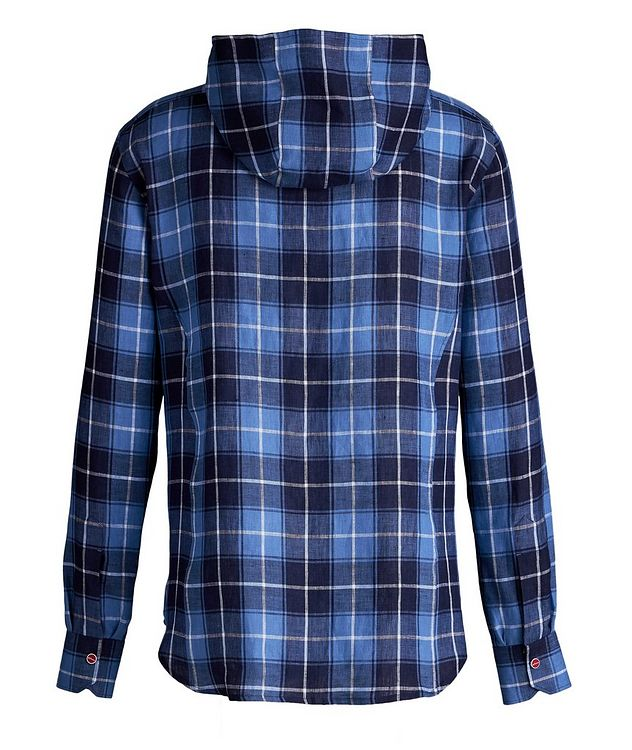 Mariano Plaid Linen Hooded Shirt picture 2
