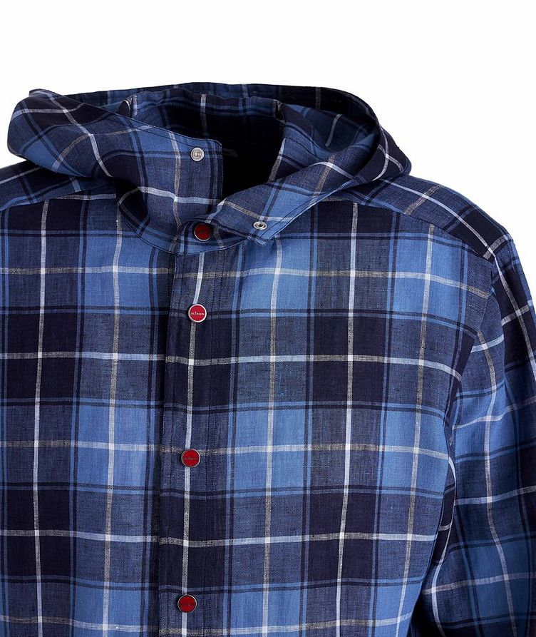 Mariano Plaid Linen Hooded Shirt image 2