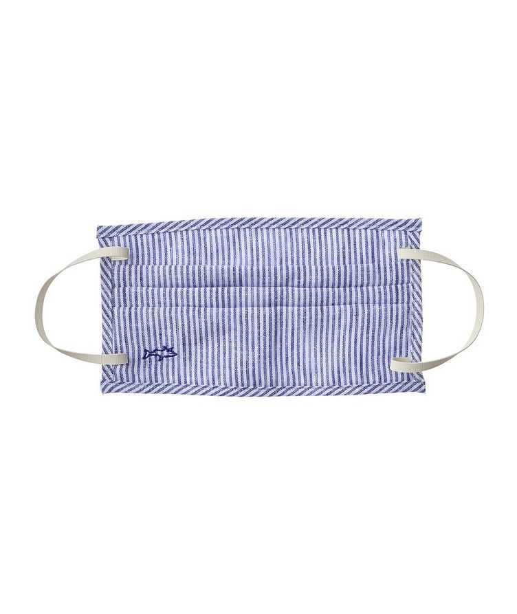 Chemise décontractée en lin à rayures et à manches courtes image 1