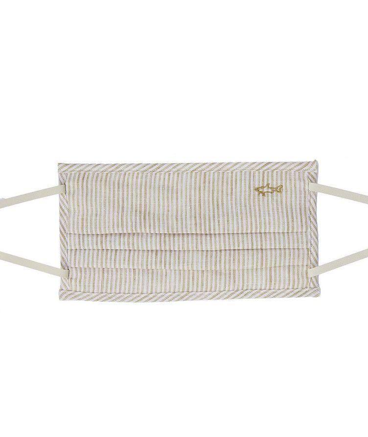 Short-Sleeve Striped Linen Shirt image 1