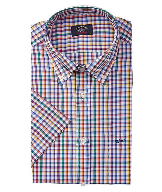 Short-Sleeve Printed Organic Cotton Shirt picture 1