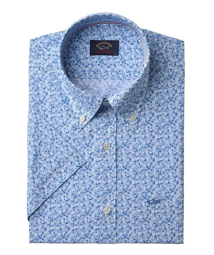 Short-Sleeve Floral Cotton Sport Shirt image 0