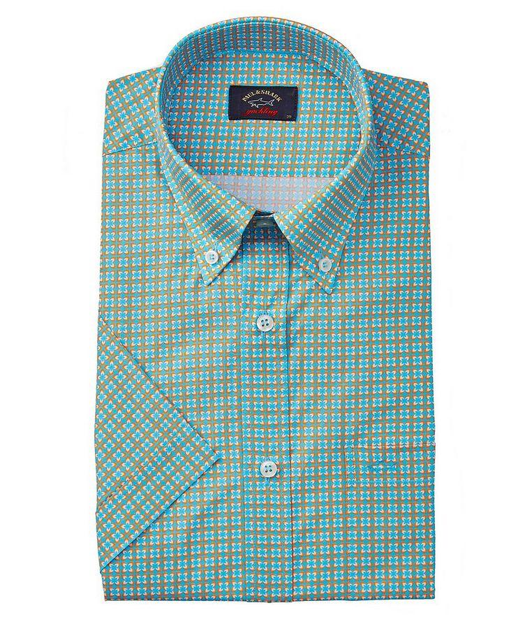 Short-Sleeve Printed Cotton Shirt image 0