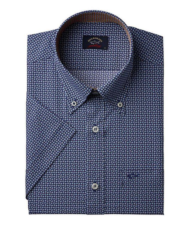 Short-Sleeve Floral Cotton Sport Shirt picture 1