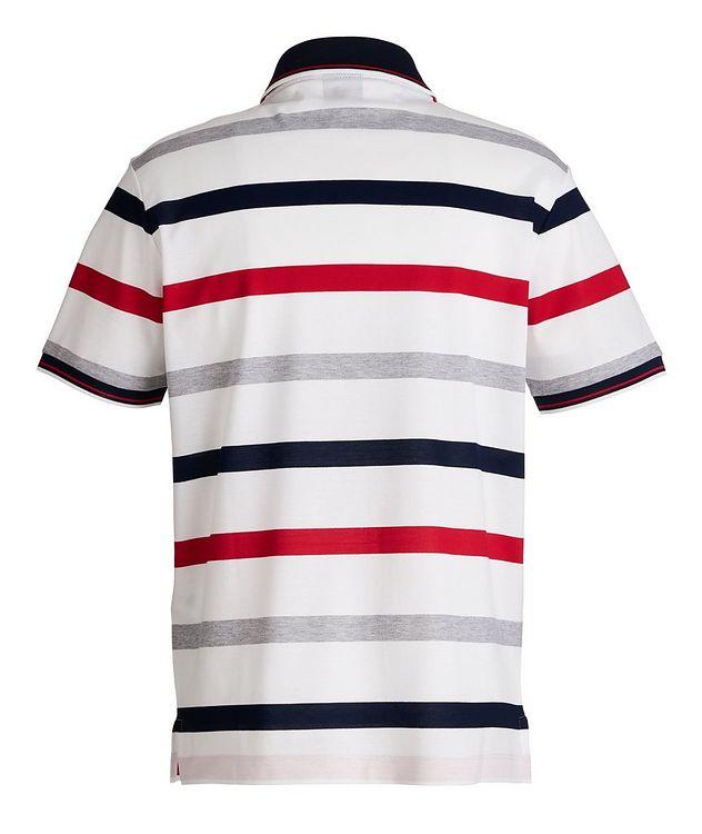 Striped Piqué Organic Cotton Polo picture 2