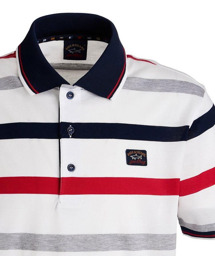 Striped Piqué Organic Cotton Polo image 2