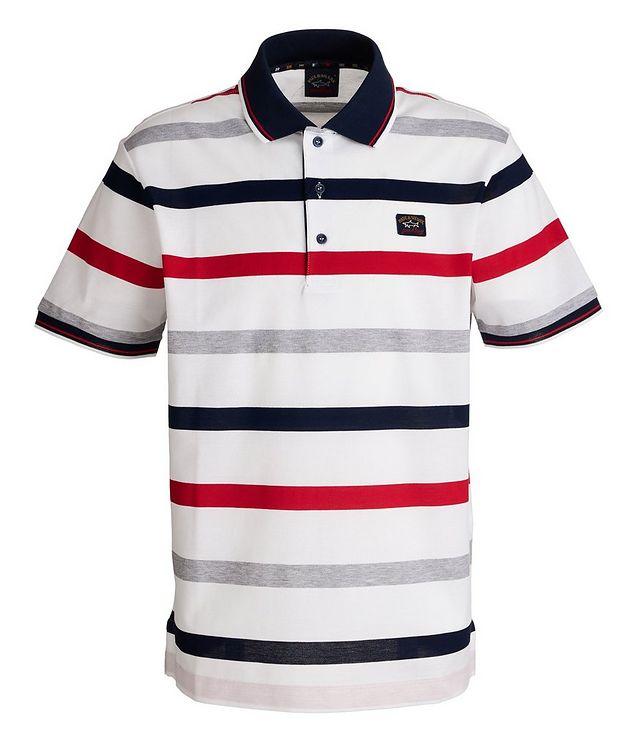 Striped Piqué Organic Cotton Polo picture 1