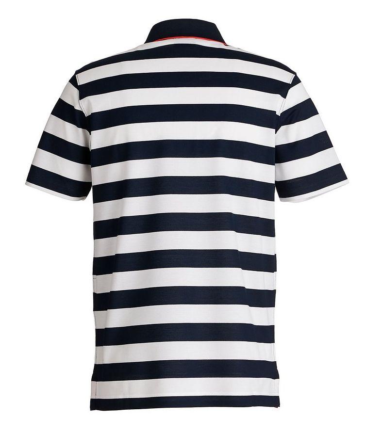 Striped Piqué Organic Cotton Polo image 1