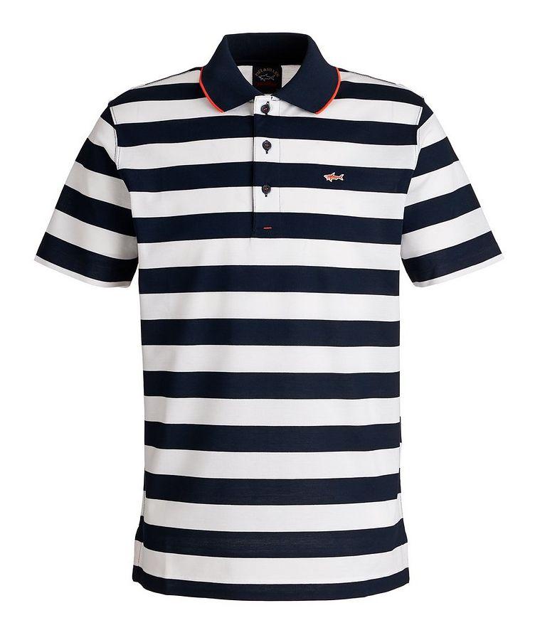 Striped Piqué Organic Cotton Polo image 0