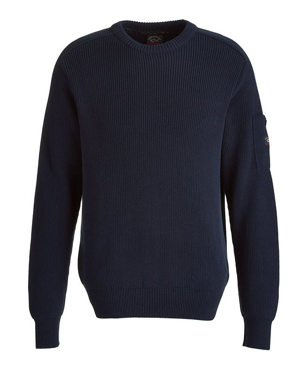 Ribbed Knit Cotton Fisherman's Sweater picture 1