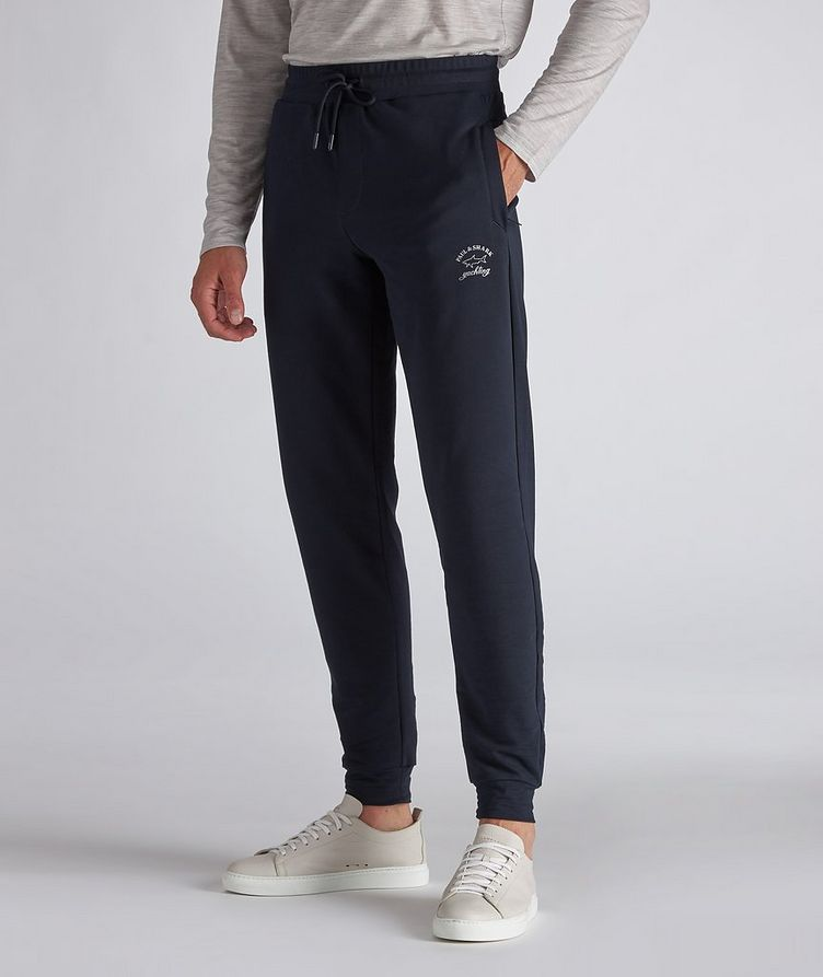 Stretch-Cotton Track Pants image 1