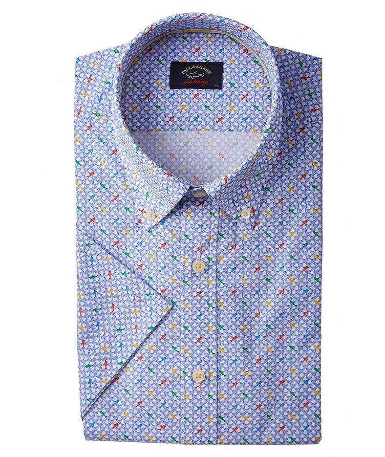 Short-Sleeve Printed Organic Cotton Shirt image 0