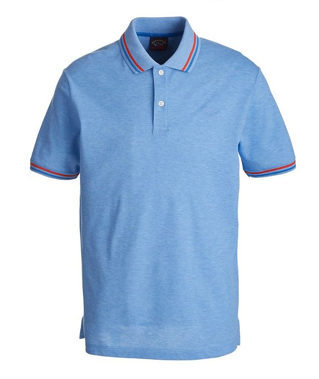 Tipped Piqué Organic Cotton Polo picture 1