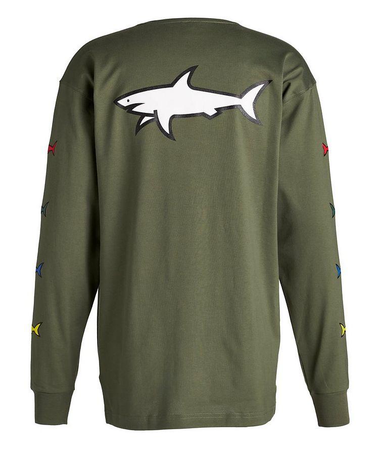Long-Sleeve Cotton Shark Logo T-Shirt image 1