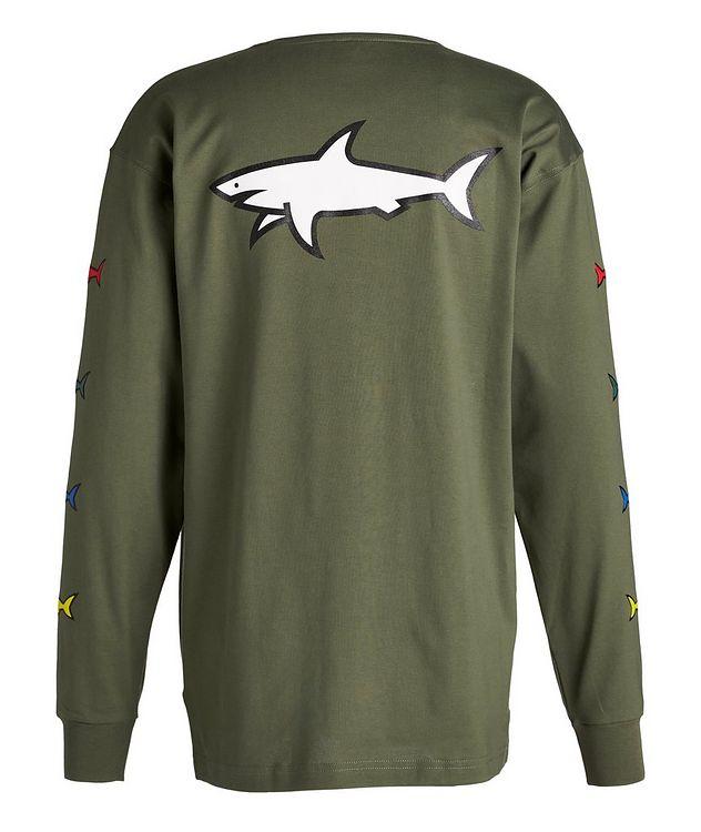 Long-Sleeve Cotton Shark Logo T-Shirt picture 2