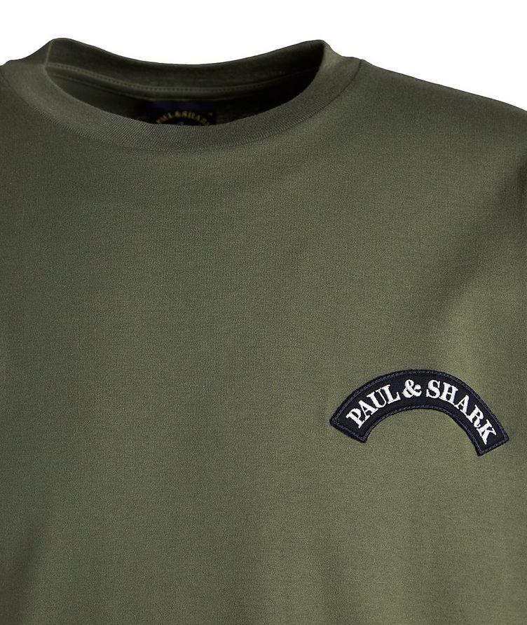 Long-Sleeve Cotton Shark Logo T-Shirt image 2