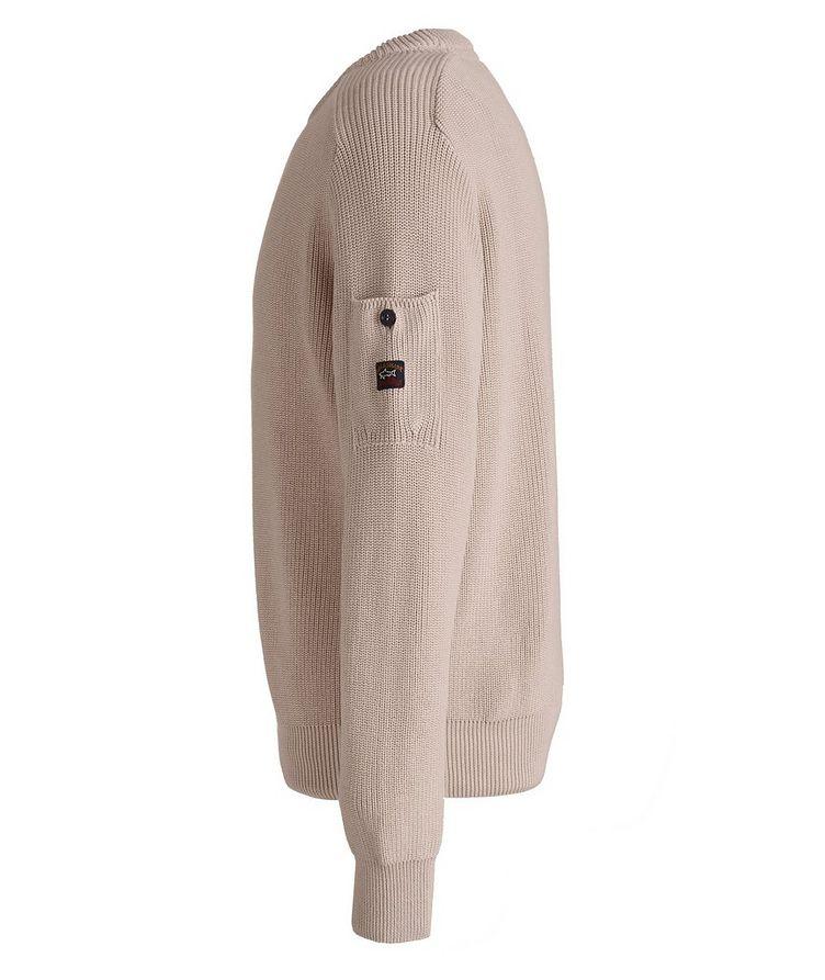Ribbed Knit Organic Cotton Fisherman's Sweater image 1