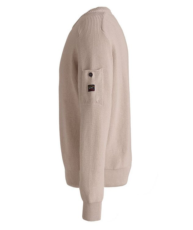 Ribbed Knit Organic Cotton Fisherman's Sweater picture 2