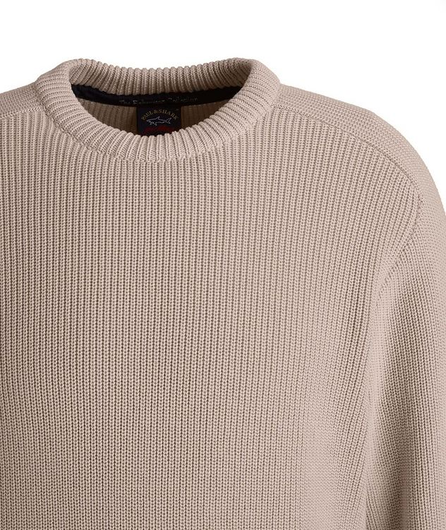 Ribbed Knit Organic Cotton Fisherman's Sweater picture 3