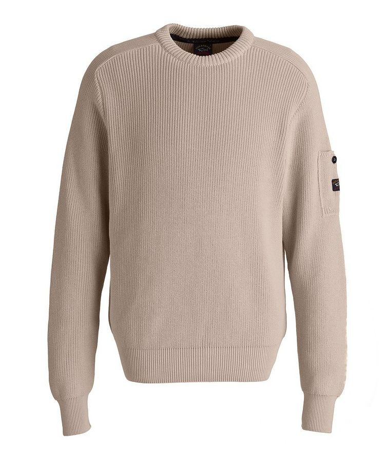 Ribbed Knit Organic Cotton Fisherman's Sweater image 0