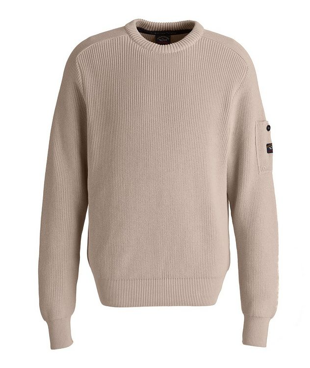 Ribbed Knit Organic Cotton Fisherman's Sweater picture 1