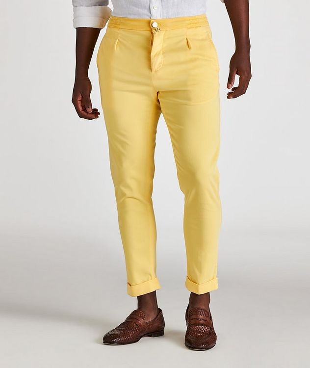 Stretch-Lyocell Drawstring Chinos picture 2