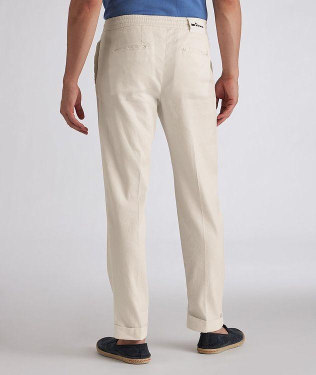 Linen-Stretch Cotton Drawstring Jeans picture 3