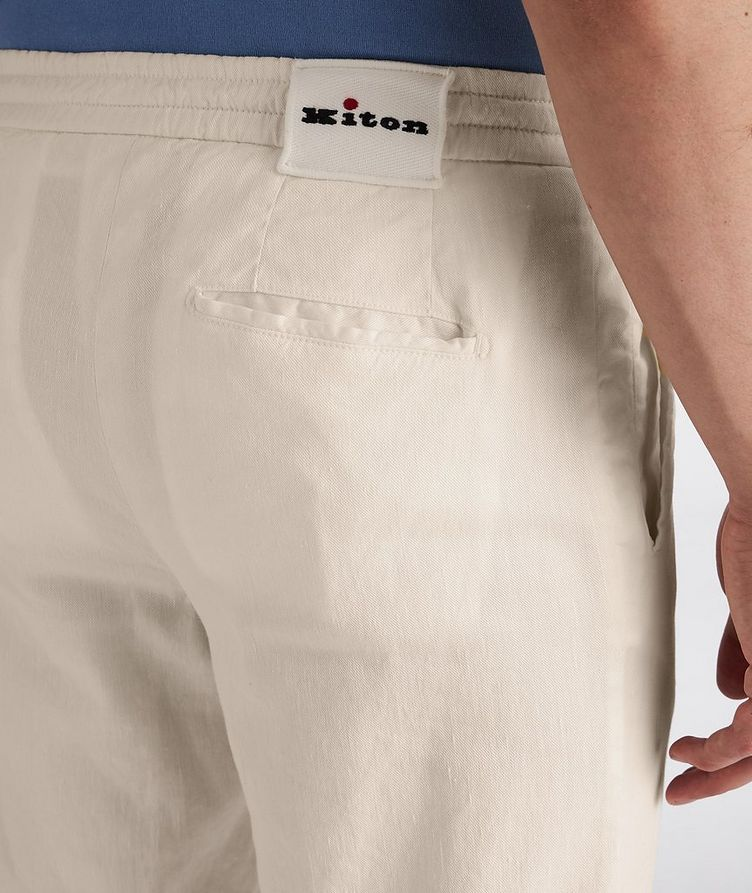 Linen-Stretch Cotton Drawstring Jeans image 3