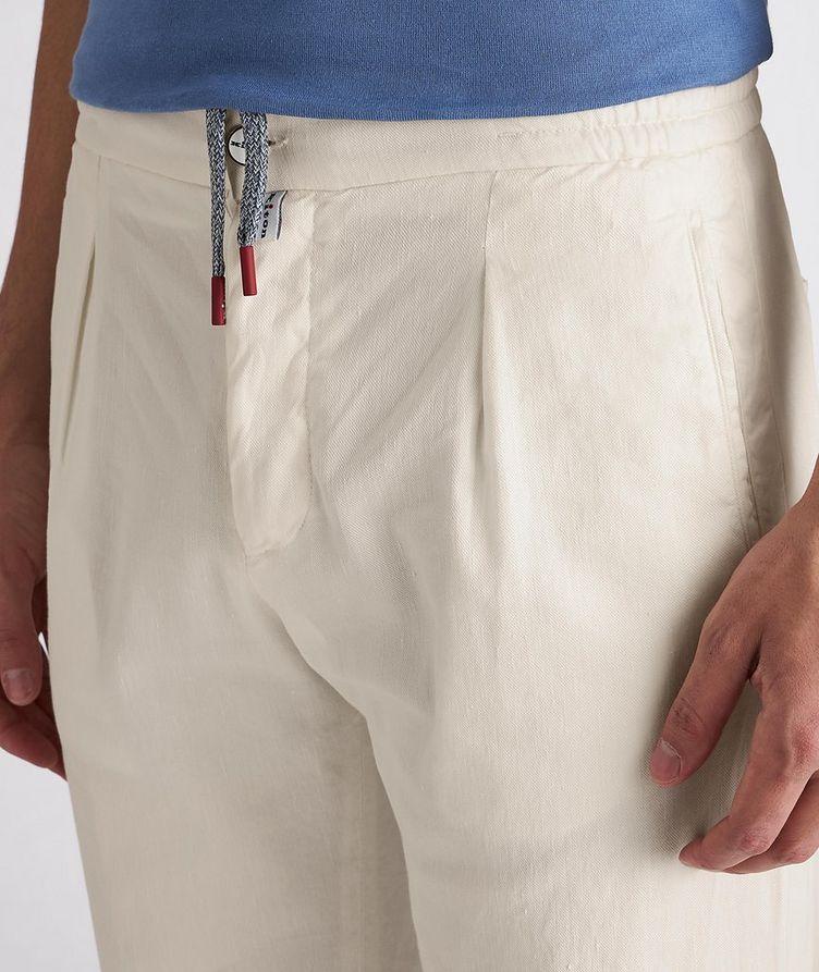 Linen-Stretch Cotton Drawstring Jeans image 4
