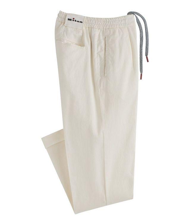 Linen-Stretch Cotton Drawstring Jeans picture 1