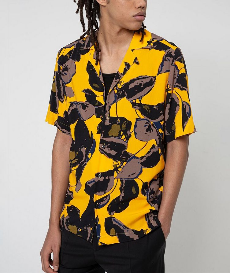 Short-Sleeve Tropical-Printed Shirt image 1