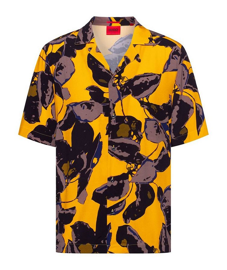 Short-Sleeve Tropical-Printed Shirt image 0