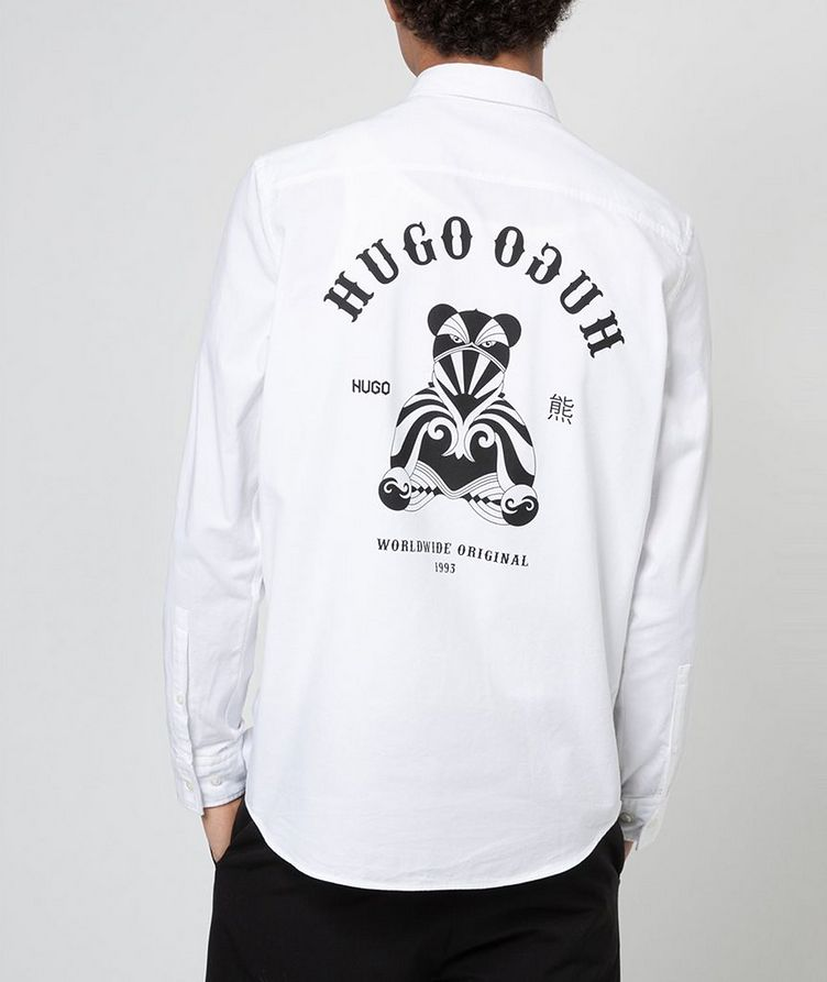 Oxford Printed Cotton Shirt image 3