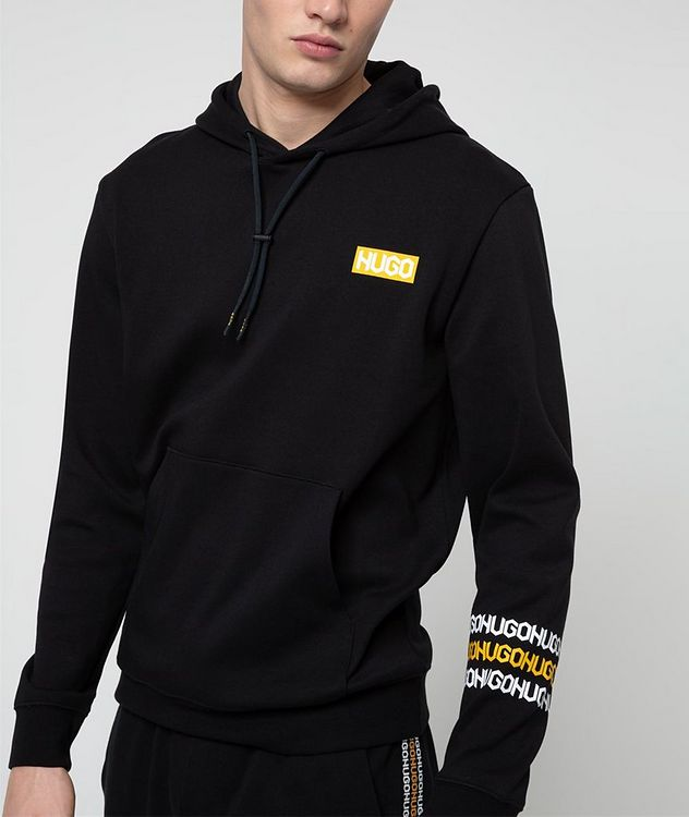 Logo Print Cotton Hoodie picture 2