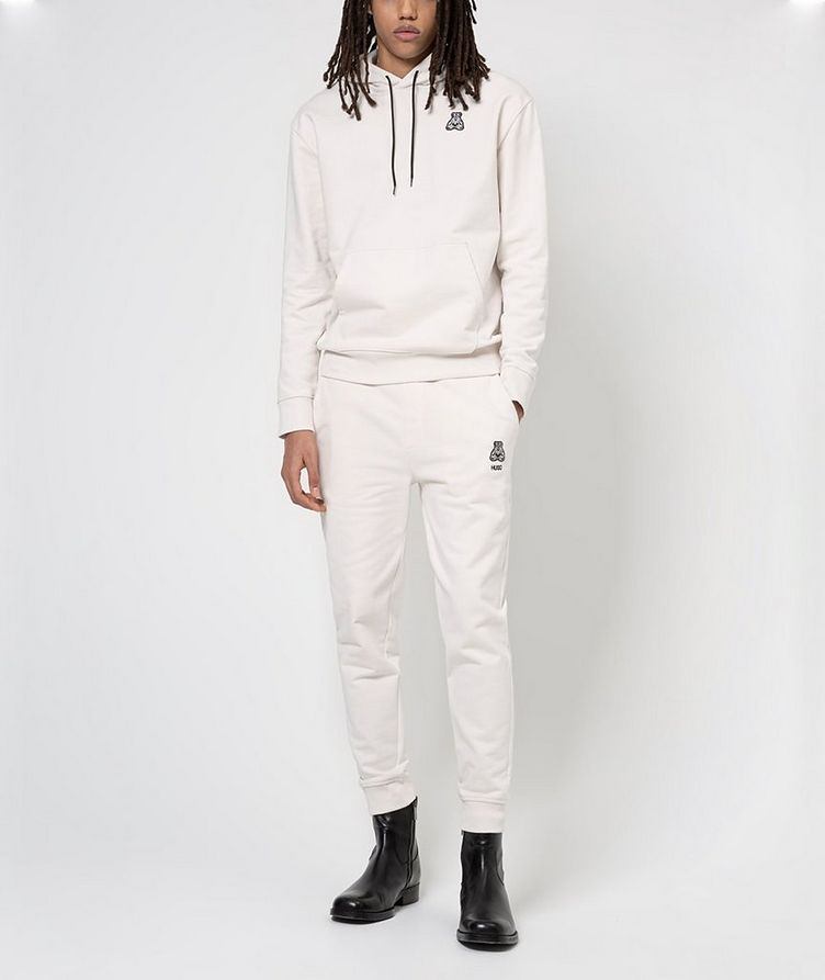 Printed Cotton Joggers image 3