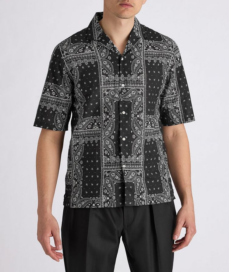 Eren Short-Sleeve Printed Cotton Shirt image 1
