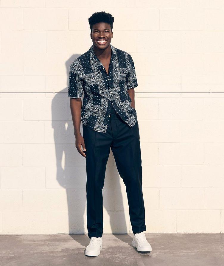 Eren Short-Sleeve Printed Cotton Shirt image 4