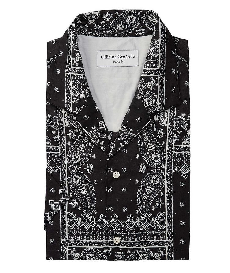 Eren Short-Sleeve Printed Cotton Shirt image 0