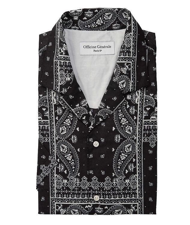 Eren Short-Sleeve Printed Cotton Shirt picture 1