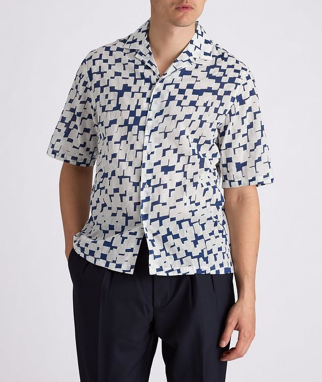 Eren Short-Sleeve Printed Cotton Shirt picture 2