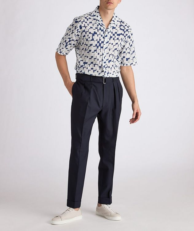 Eren Short-Sleeve Printed Cotton Shirt picture 4