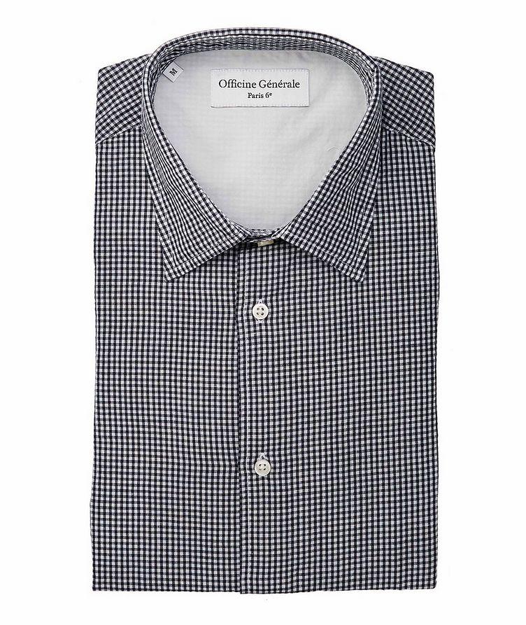 Giacomo Gingham Cotton-Linen Shirt image 0
