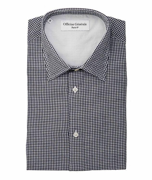Giacomo Gingham Cotton-Linen Shirt picture 1