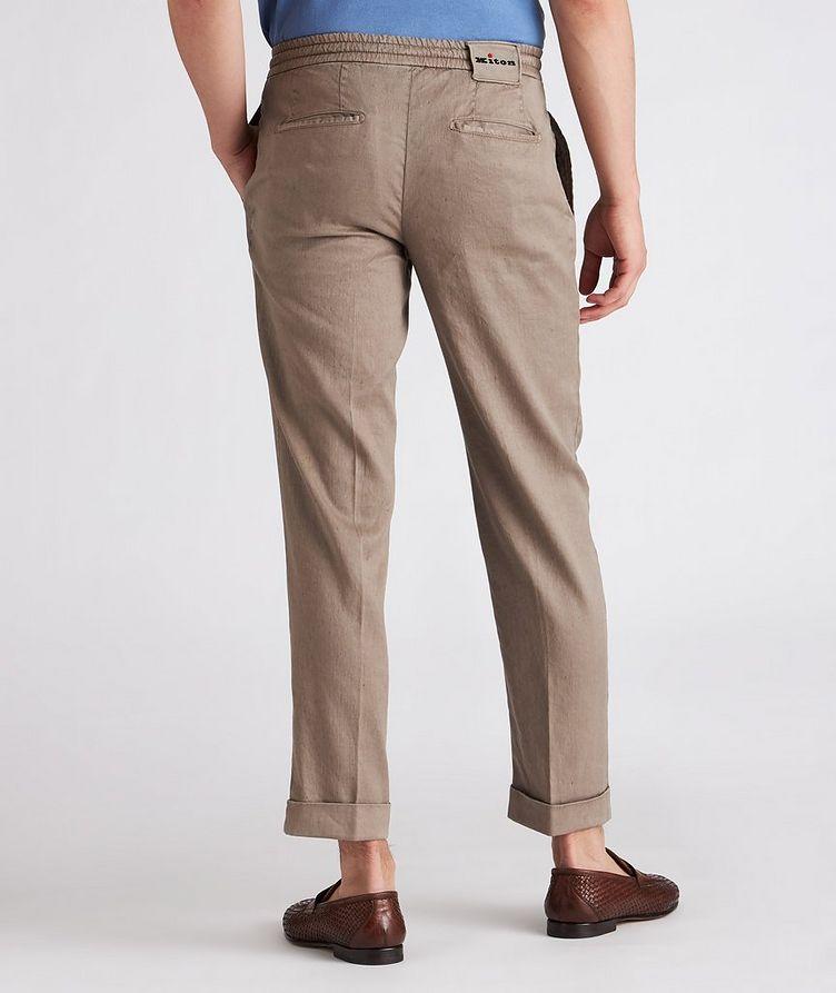 Linen-Stretch Cotton Drawstring Jeans image 2