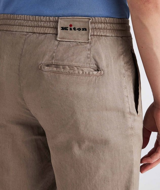 Linen-Stretch Cotton Drawstring Jeans picture 4